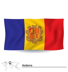Flag of Andorra vector image