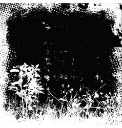 Floral grunge vector