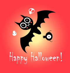flying mouse for holiday halloween vector image