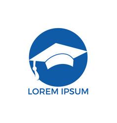 graduation cap sign vector image