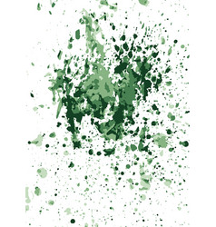 green watercolor stains on crumpled paper vector image