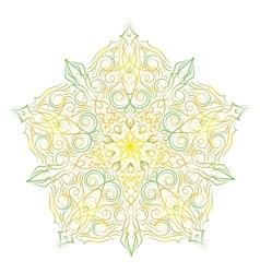 Hand-drawn christmas lace frame mandala vector image