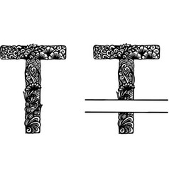 Hand drawn letter t vector