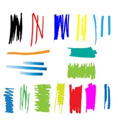 highlight marker lines vector image