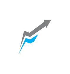 Initial f arrow up vector