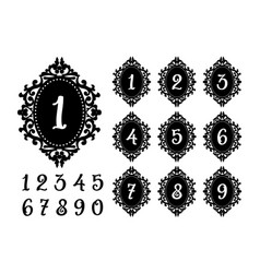 laser cutting numbers template for the festive vector image