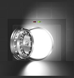 Light open door safe steel vector