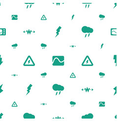 Lightning icons pattern seamless white background vector