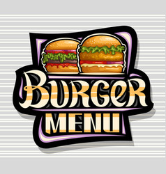 Logo for burger menu vector