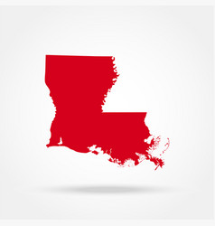 Map of the us state of louisiana vector