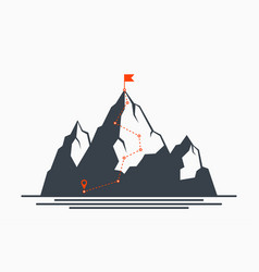 mountain route vector image