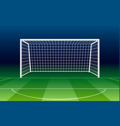 netting soccer gate vector image