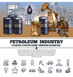 Oil Industry Infographics vector
