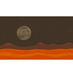 On planet desert landscape vector image