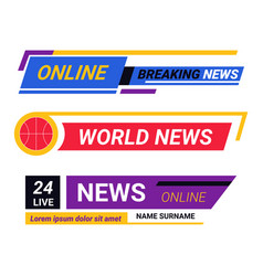 online tv news breaking report broadcast vector image