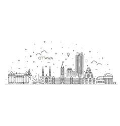 ottawa city skyline vector image