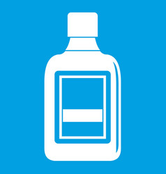 Plastic bottle icon white vector