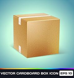 Realistic cardboard box icon vector