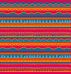 red and pink childish stripe seamless pattern vector image