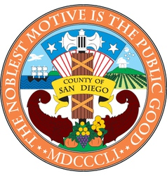 San Diego County Seal vector image