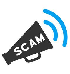 Scam alert megaphone flat icon vector