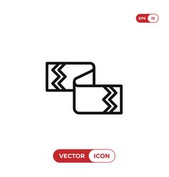 scarf icon vector image