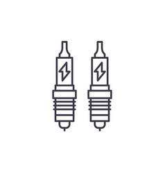 spark plug line icon concept spark plug vector image