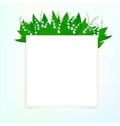 spring card background with lily valley vector image