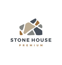 stone house home mortgage logo icon vector image