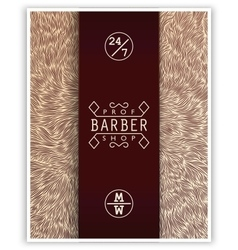 Stylized poster for Barbershop vector image