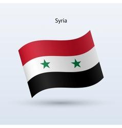 Syria flag waving form vector image