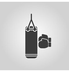 The boxing icon Sport symbol Flat vector image