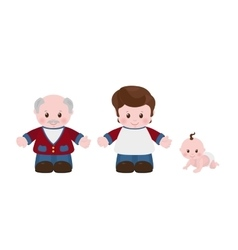 Three generations Men of different ages vector