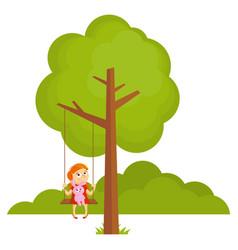 tree landscape forest vector image