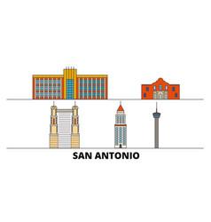 United states san antonio flat landmarks vector