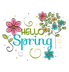 welcome spring design vector image