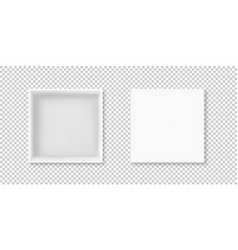 White box open top view vector
