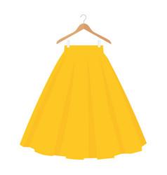 Yellow skirt template design fashion woman women vector