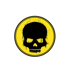 Yellow skull logo vector