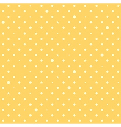 Yellow Star Polka Dots Background vector image