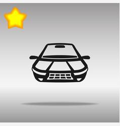 car black icon button logo symbol vector image vector image