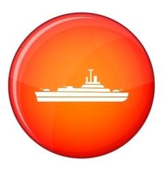 Warship icon flat style vector image