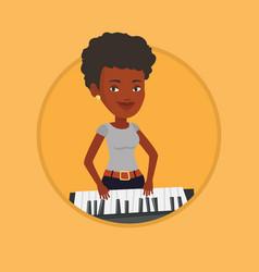 woman playing piano vector image