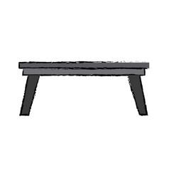 wooden table office furniture elegant decoration vector image