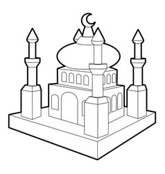 arabic town icon outline style vector image