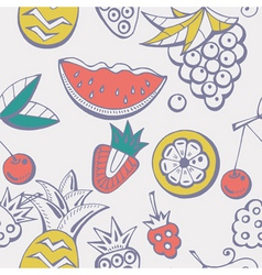 fruits pattern vector image vector image