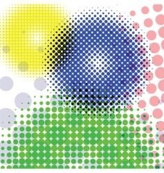 halftone round pattern vector image vector image