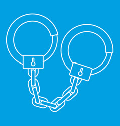 handcuffs icon outline style vector image vector image