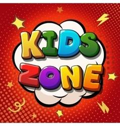 Kids zone banner design children playground zone vector