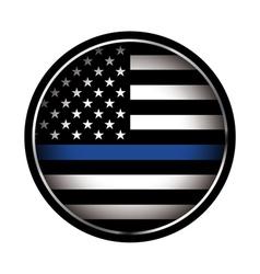 Police Lives Matter Thin Blue Line Flag vector image